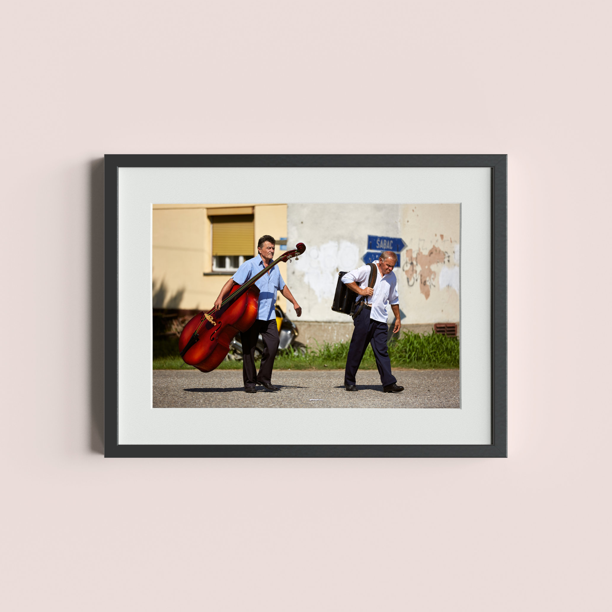 DUBLJE, SERBIA - August 9, 2014: Musicians return home after the village fair in Dublje.