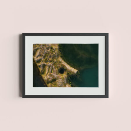 CRNA BARA, SERBIA - August 26, 2017: Aerial view of the Drina river coast.